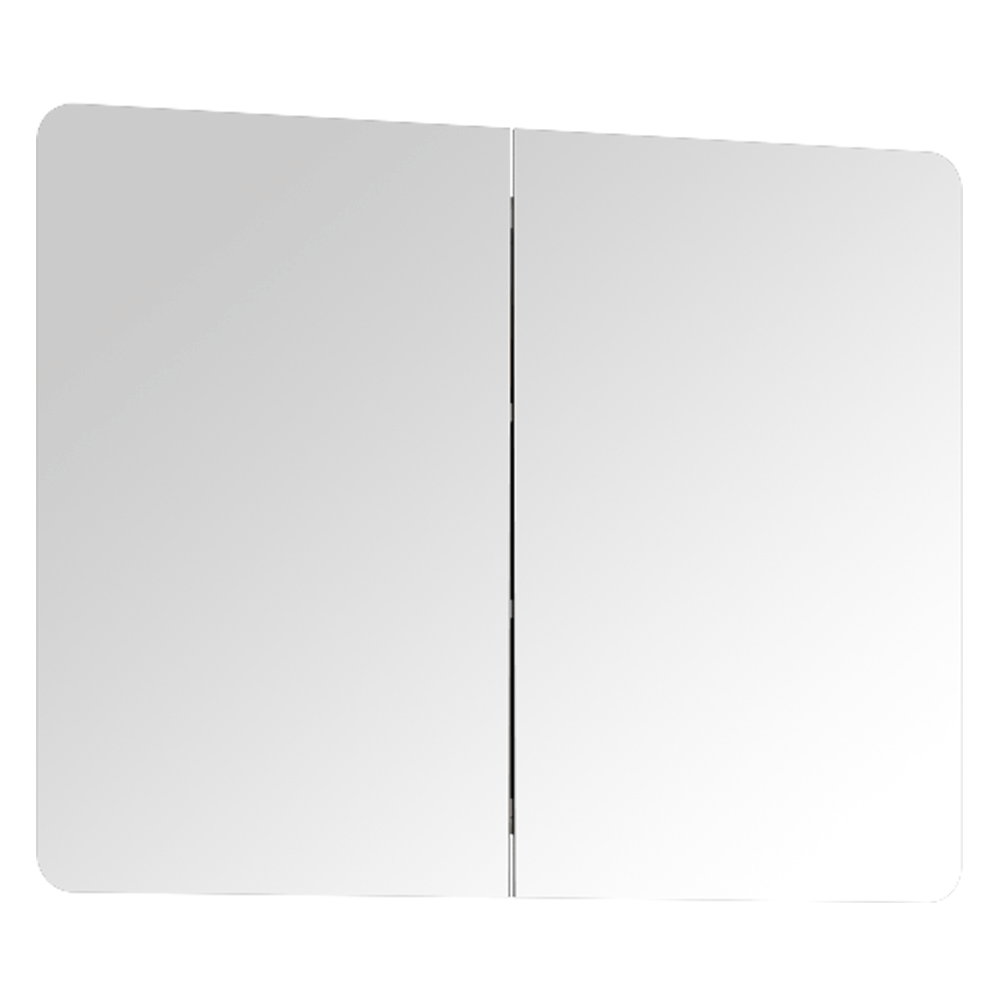 Otváracia skrinka so zrkadlom, biela, na objednávku, LYNATET TYP 160