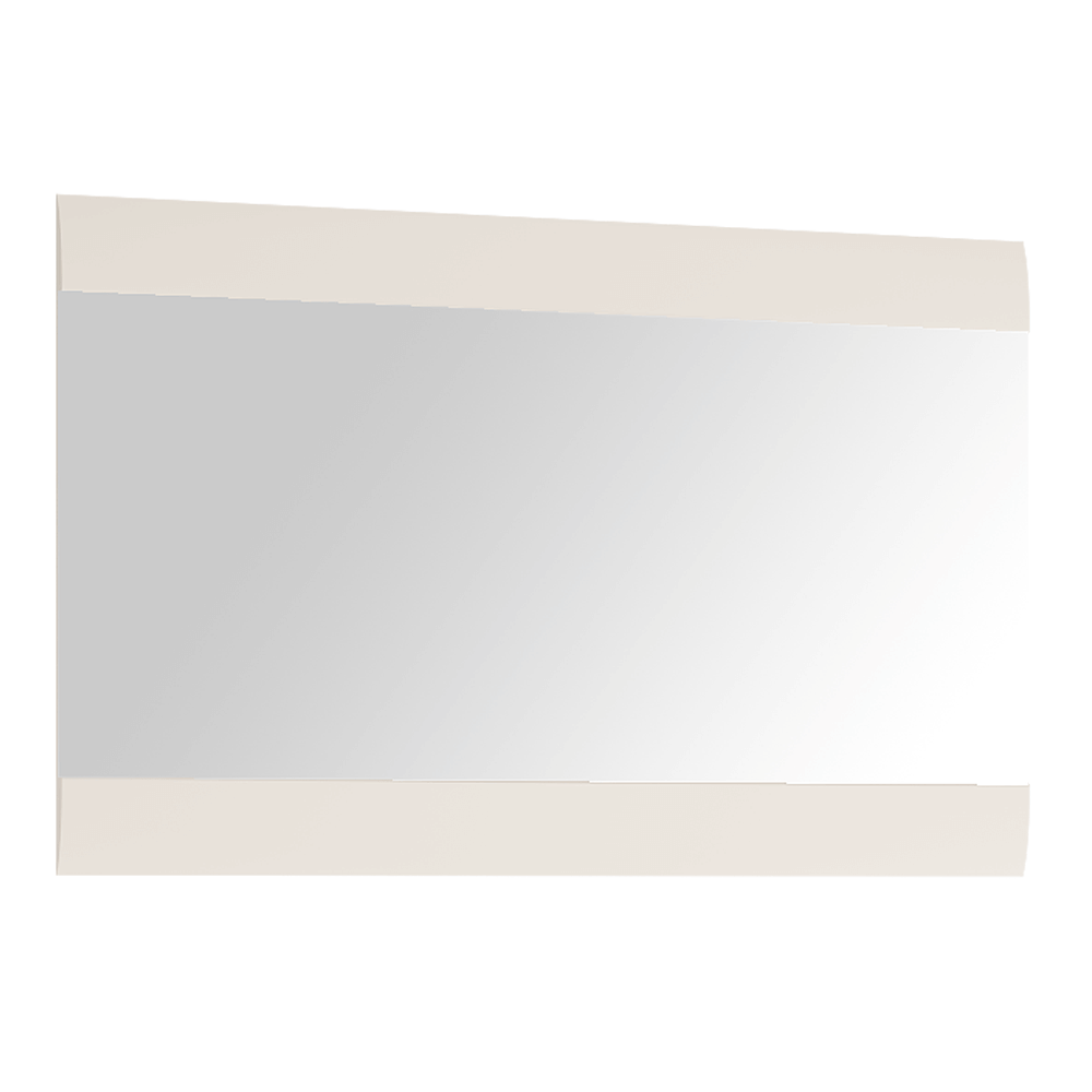 Zrcadlo malé, bílá extra vysoký lesk HG, LYNATET TYP 122, TEMPO KONDELA