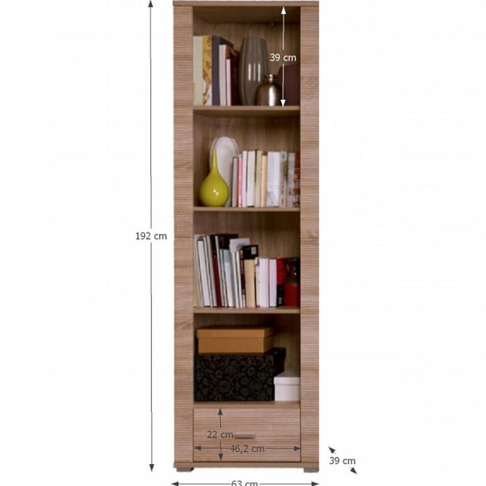Könyvespolc typ 6, tölgy sonoma, GRAND