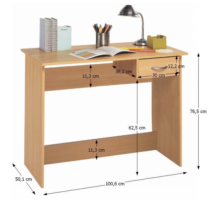 TEMPO KONDELA PC stôl, buk, NIPAL - Tempo nábytek
