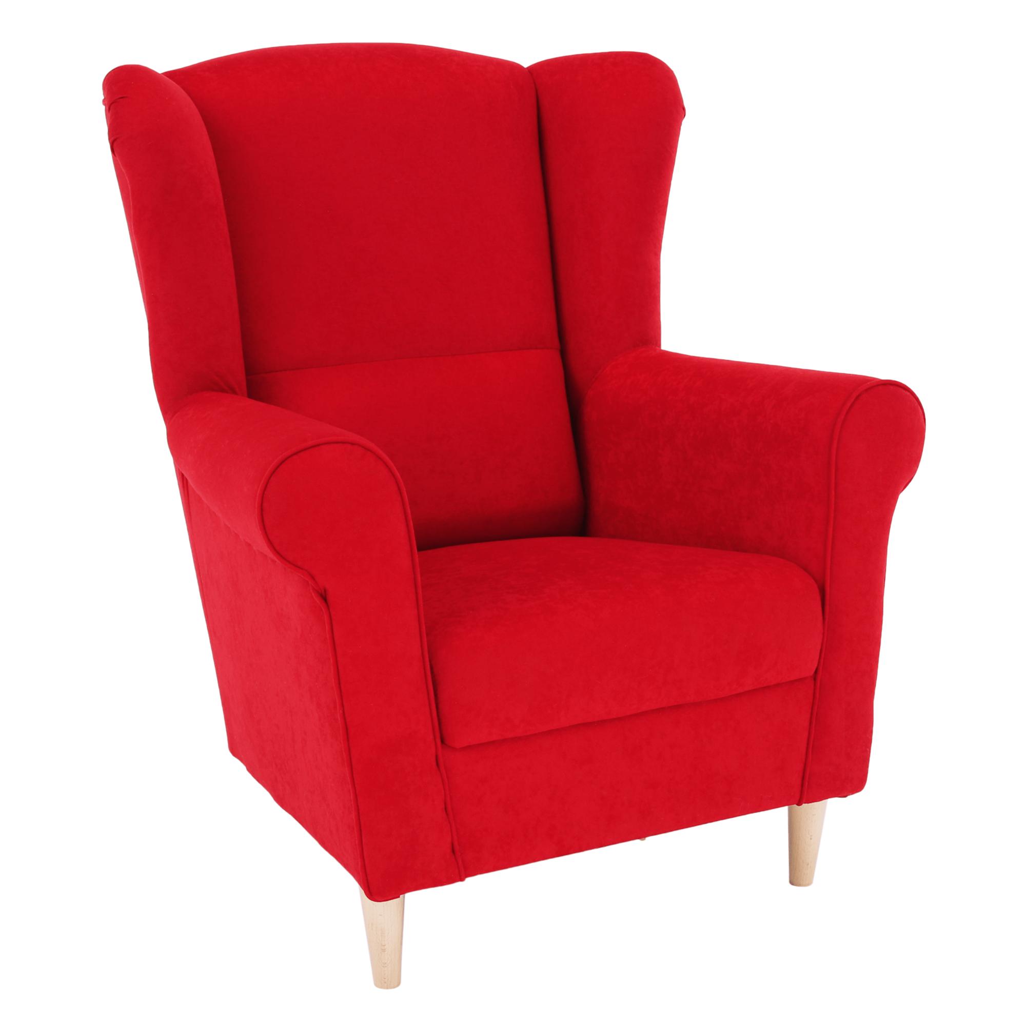 Füles fotel, piros, CHARLOT