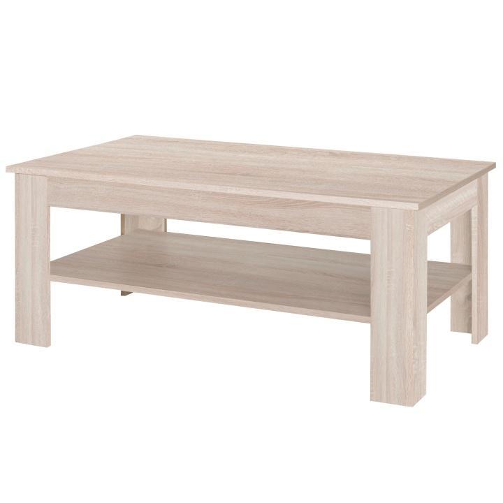 TEMPO KONDELA Konferenčný stolík, dub sonoma/biely lesk, STILO - Tempo nábytek