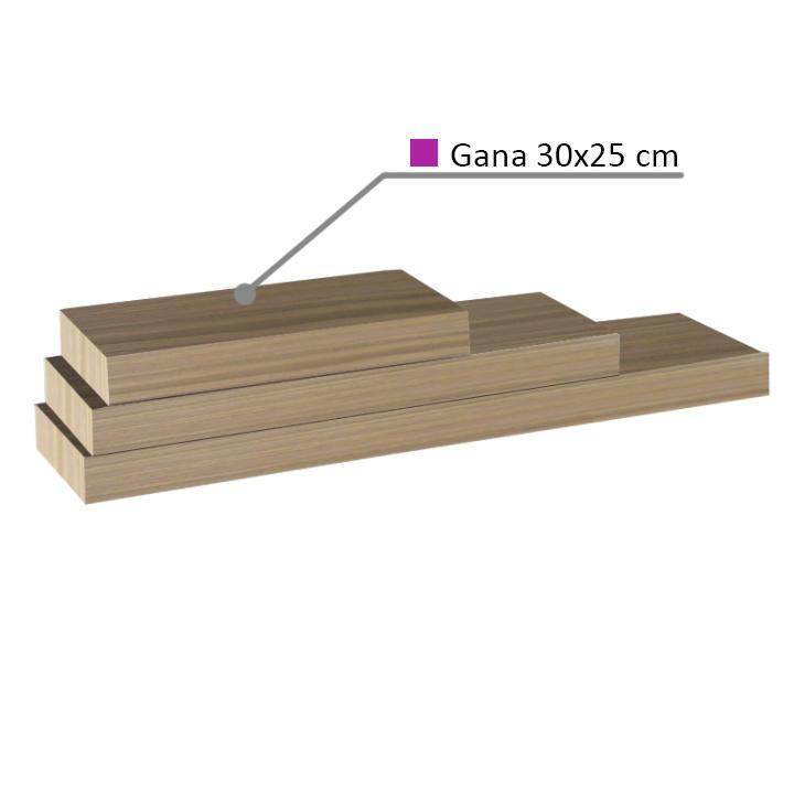 Polica, dub pieskový, 30x25, GANA