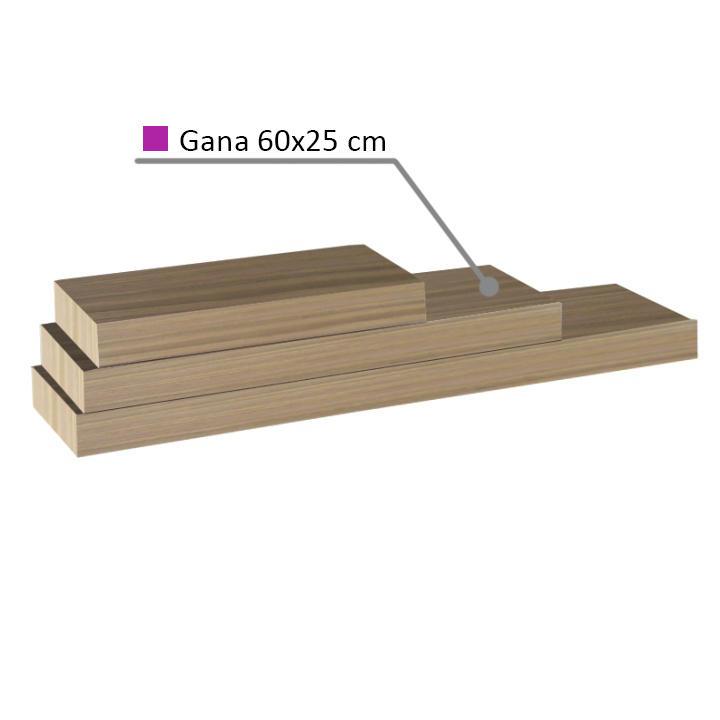 Polica, dub pieskový, 60x25, GANA