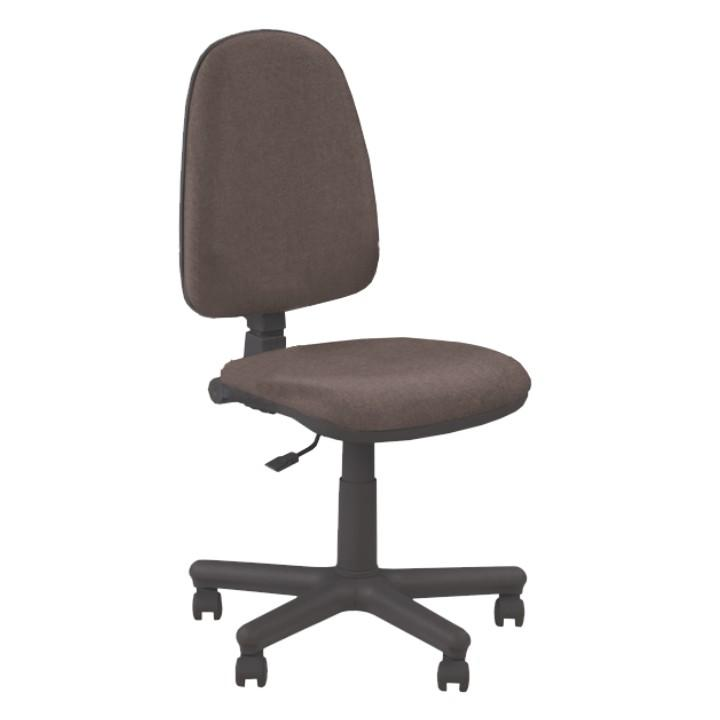 Kancelárske kreslo bez podrúčiek, hnedá látka, JUPITER GTS