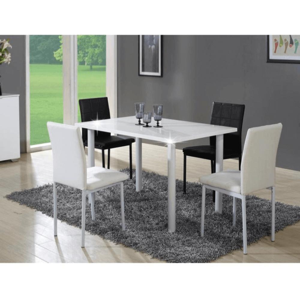 Étkezőasztal, fehér  HG, UNITA