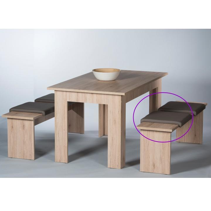 TEMPO KONDELA Sedák na lavicu, ekokoža hnedá, CORPORAL