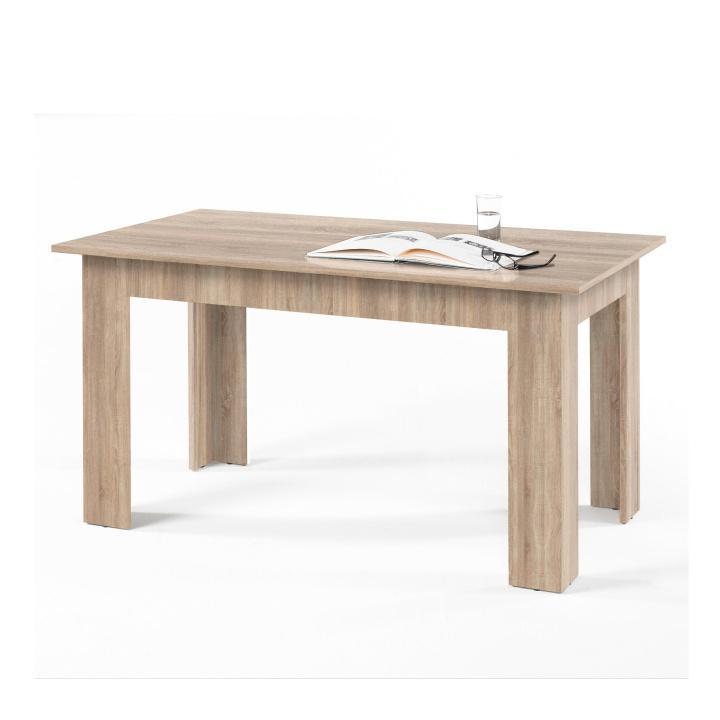 Étkezőasztal, sonoma tölgyfa, 140x80 cm, GENERAL