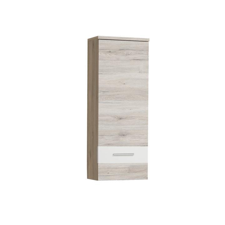 Závesná skrinka, dub pieskový/biela, VALERIA