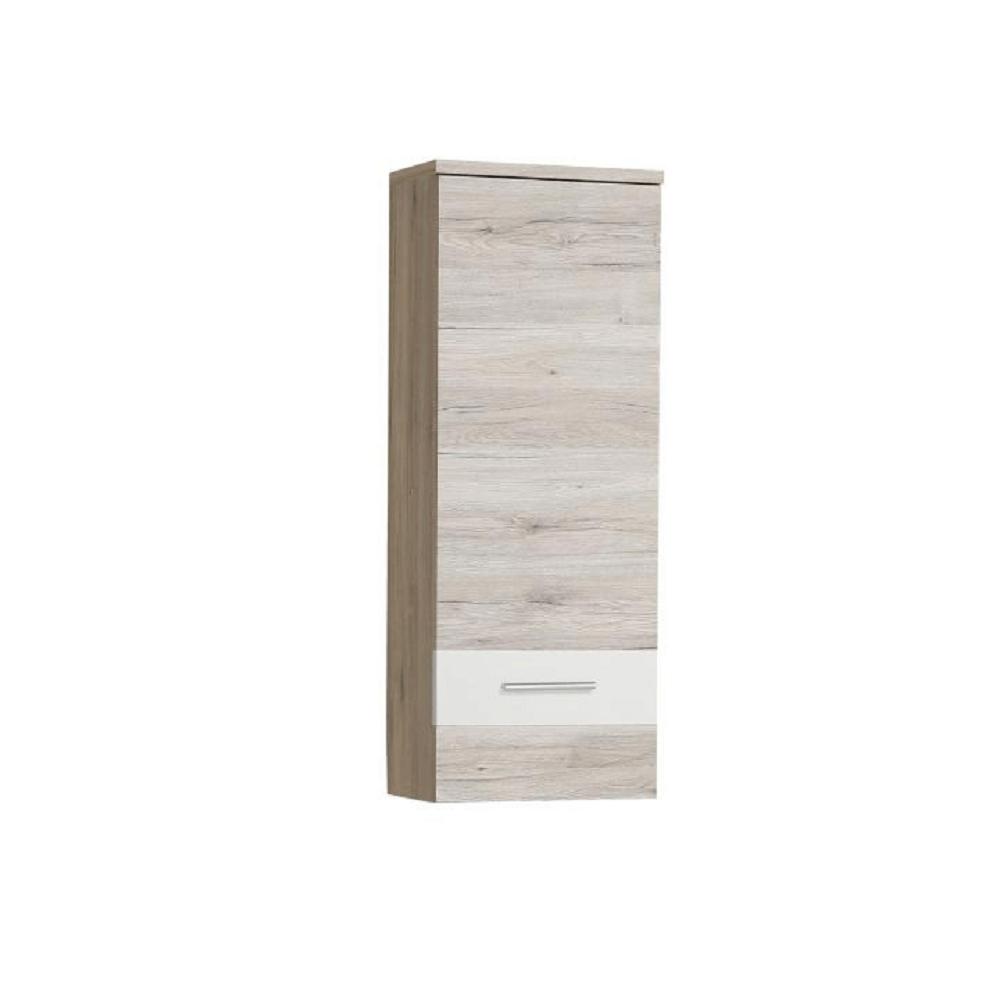Závěsná skříňka, dub písková / bílá, VALERIA