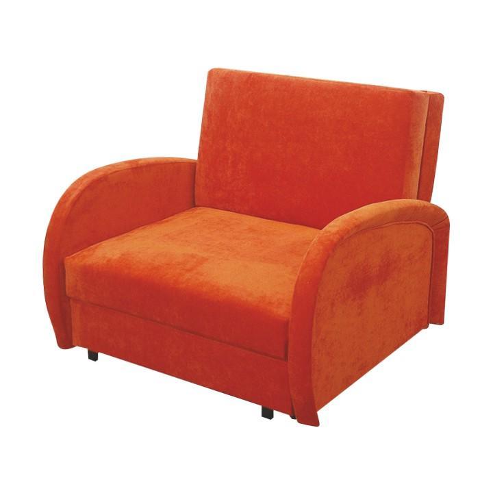 Fotel ágyfunkcióval és ágyneműtartóval, narancs színű, MILI 1