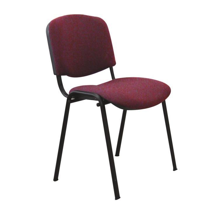 Kancelárska stolička, bordová, ISO NEW