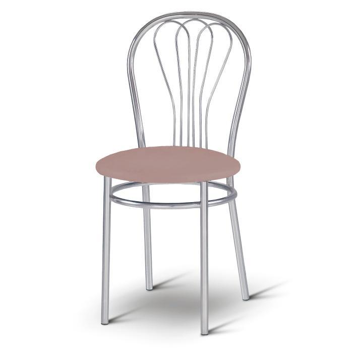 TEMPO KONDELA Stolička, ekokoža svetlo hnedá + chróm, VENUS - Tempo nábytek