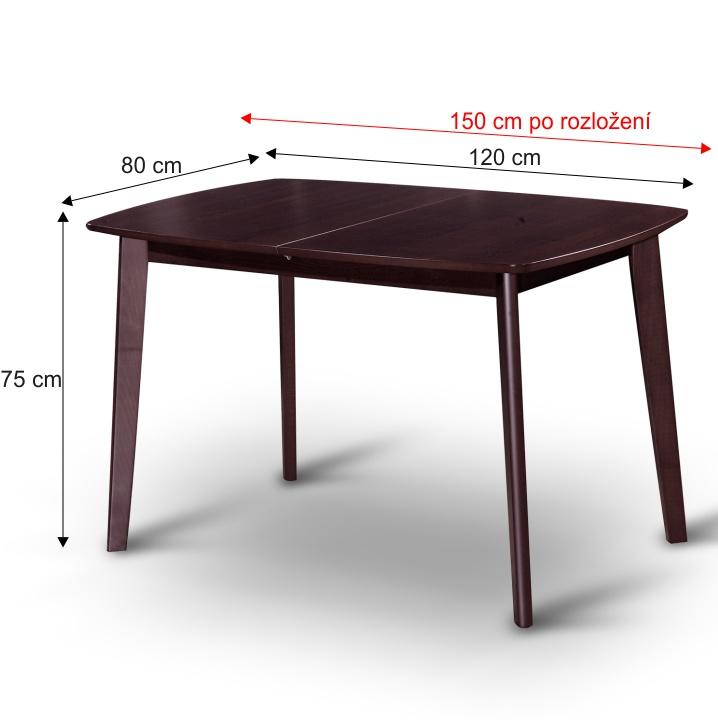 Jedálenský rozkládací stôl, wenge, CHAN