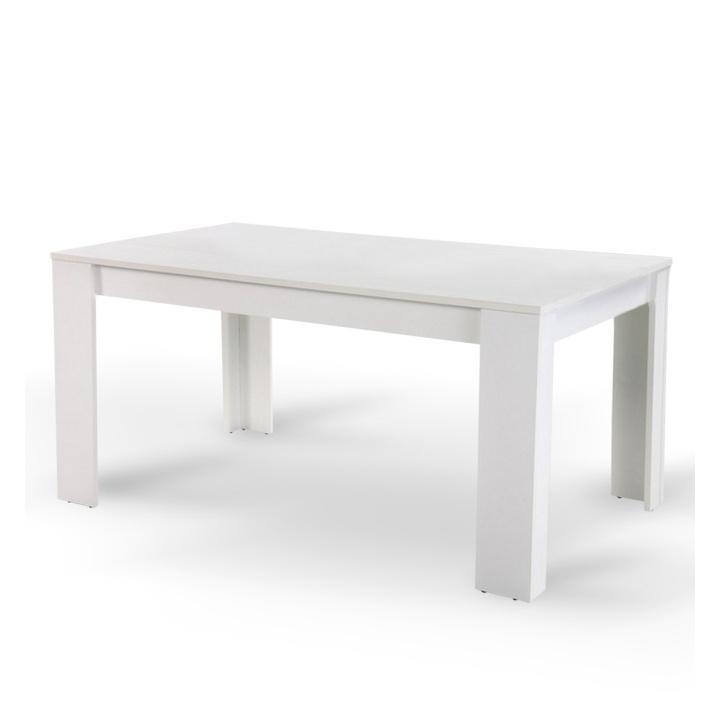 Étkezőasztal, fehér, 160x90 cm, TOMY
