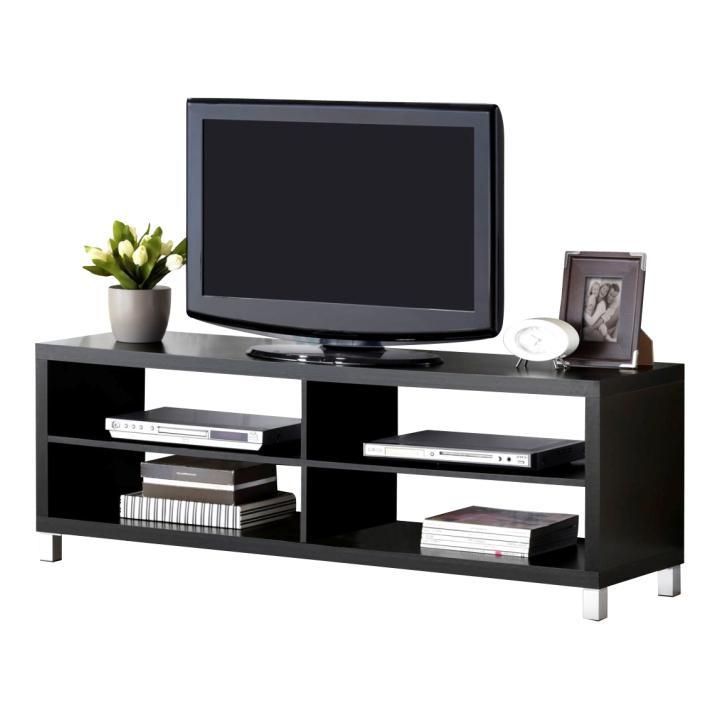 TV asztal, fekete, TOFI NEW