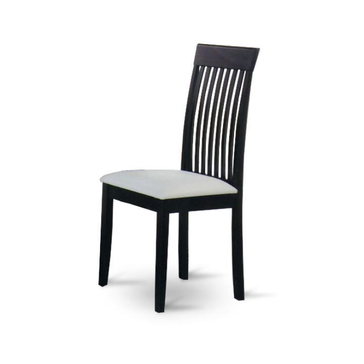 Stolička, wenge/biela ekokoža, ASTRO