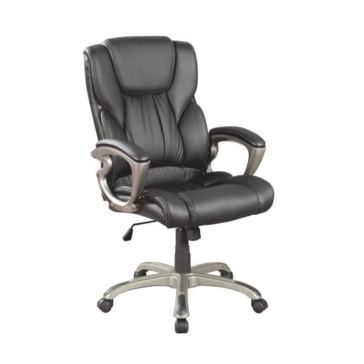 Kancelárske kreslo, ekokoža PU čierna, SIEMO 6121