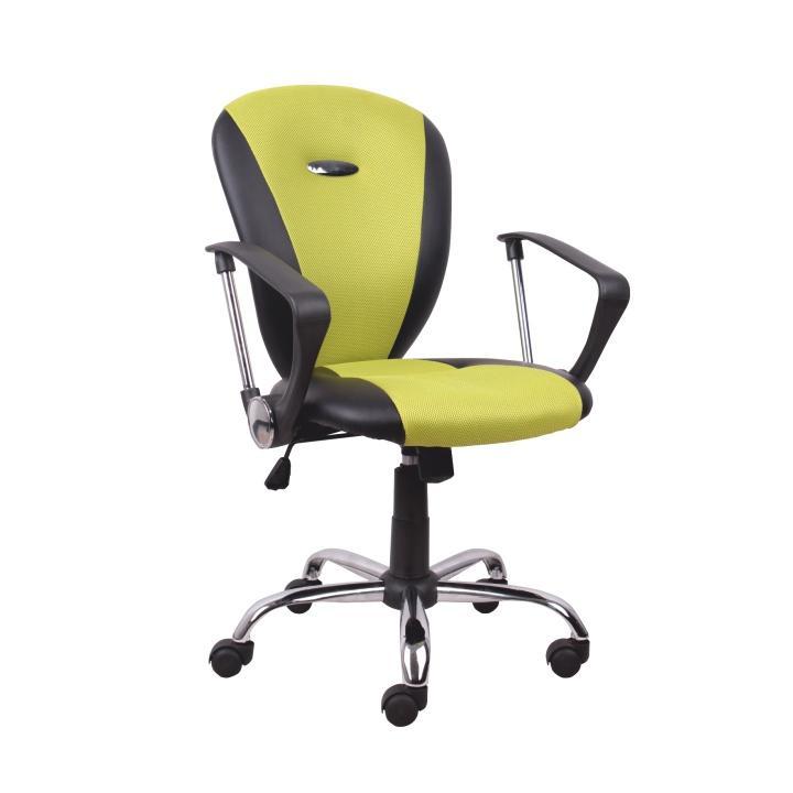 Kancelárske kreslo, žltozelená/čierna, TABAREZ 1513