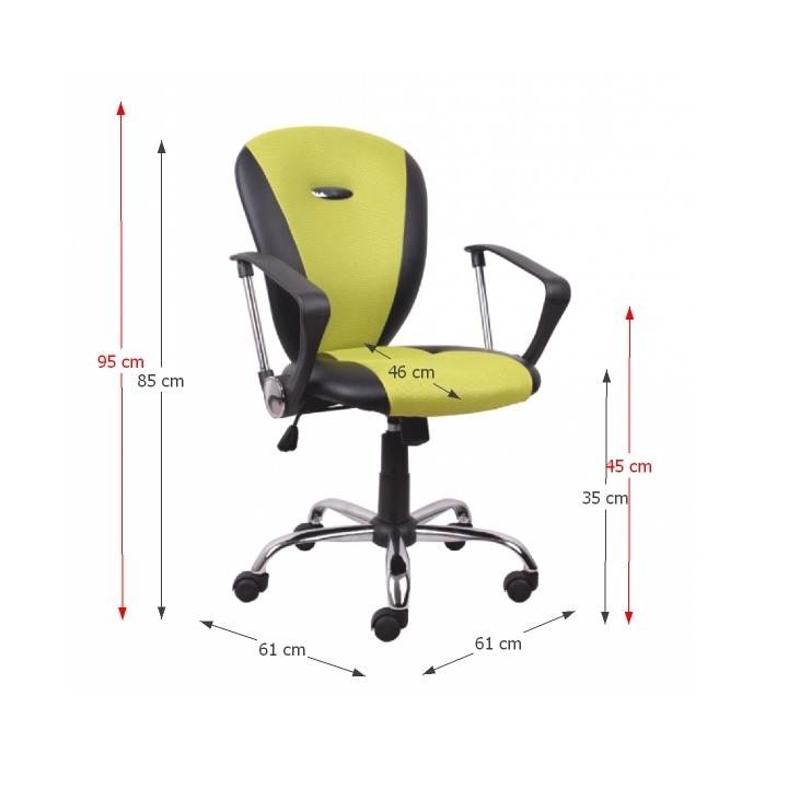 TEMPO KONDELA Kancelárske kreslo, žltozelená/čierna, TABAREZ 1513 - Tempo nábytek