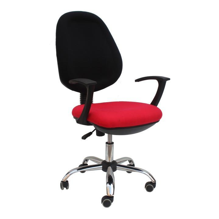 Kancelárske kreslo, červená látka, BOBAN 802