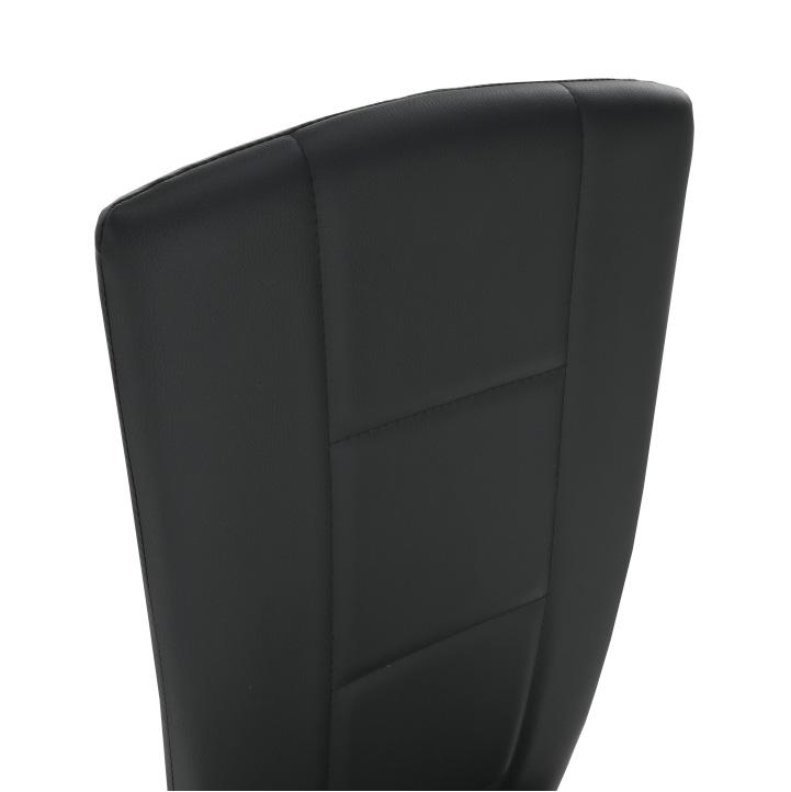 Židle, černá ekokůže / chrom, FINA