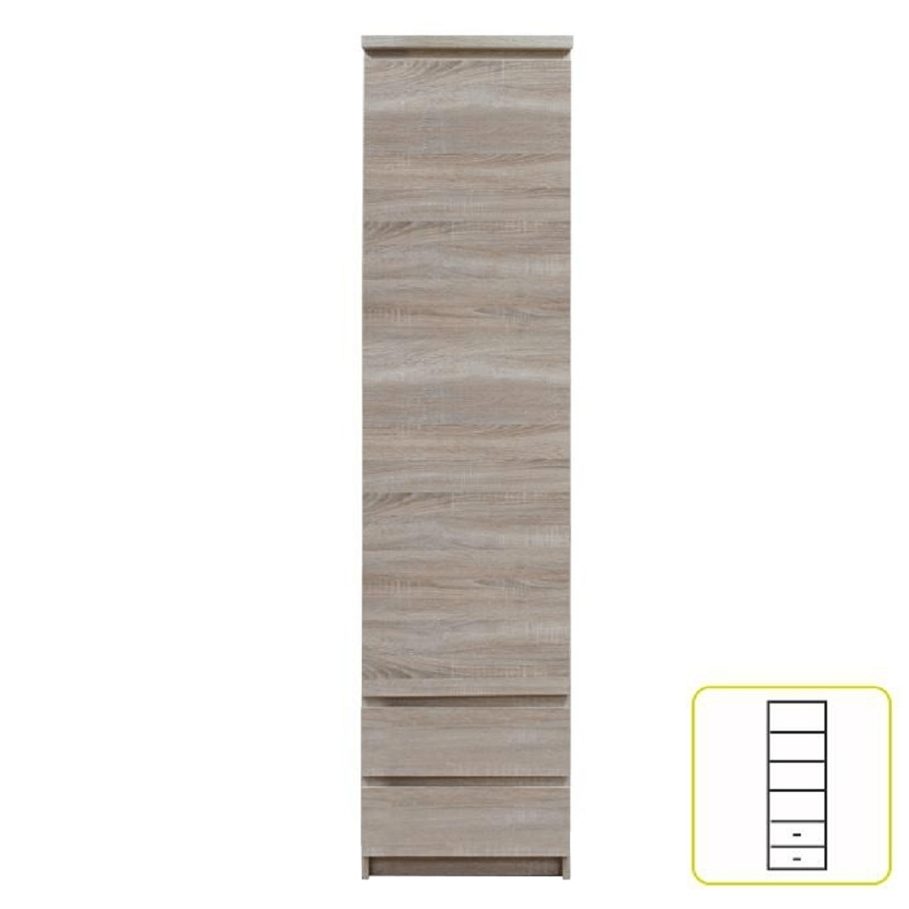 Skříň, dub sonoma, PANAMA Typ 02