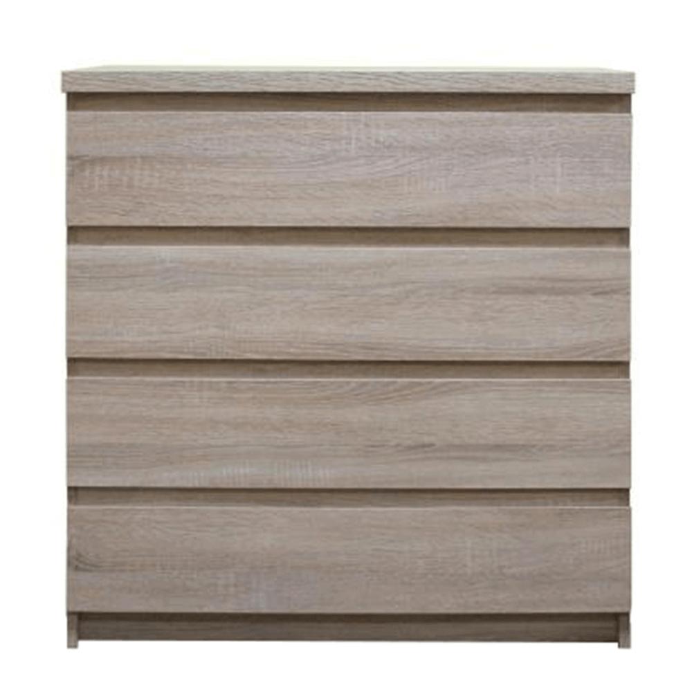 Komoda, 4-šuplíková, dub sonoma, PANAMA typ 05