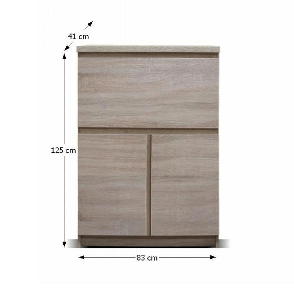 Skříňka s barem, třídveřová, dub sonoma, PANAMA Typ 12, TEMPO KONDELA