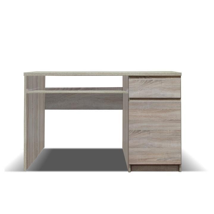 PC stôl, typ 10, jednodverový, jednozásuvkový, dub sonoma, PANAMA