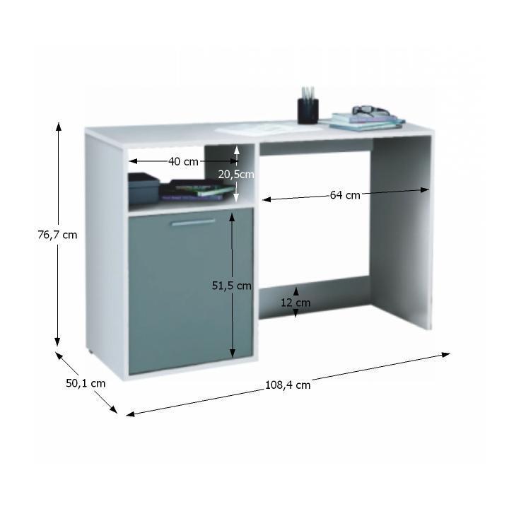 TEMPO KONDELA PC stôl, sivá/biela, BANDY 258758 - Tempo nábytek