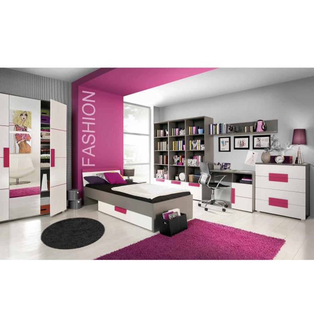 Úložný prostor pod postel, šedá / bílá / fialová, LOBETE 83, TEMPO KONDELA