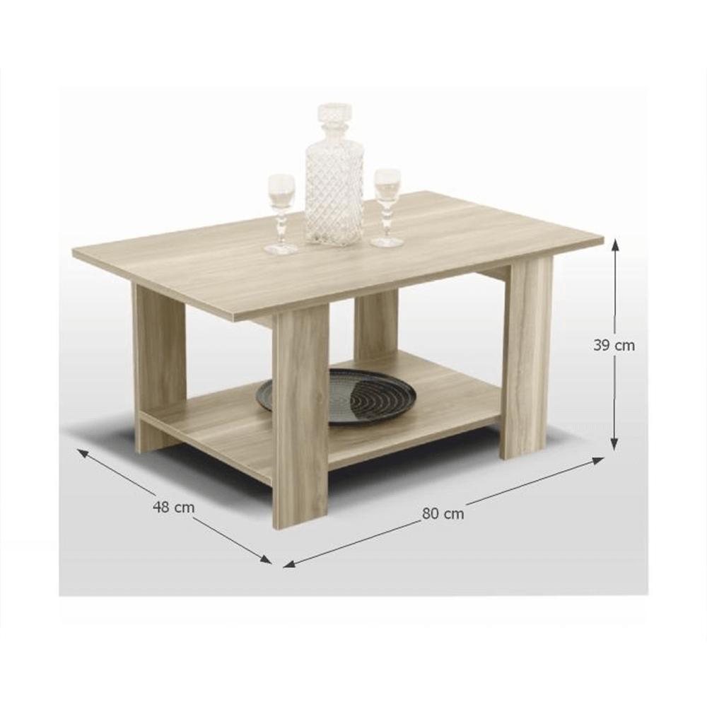 Konferenční stolek, dub sonoma, DEREK, TEMPO KONDELA