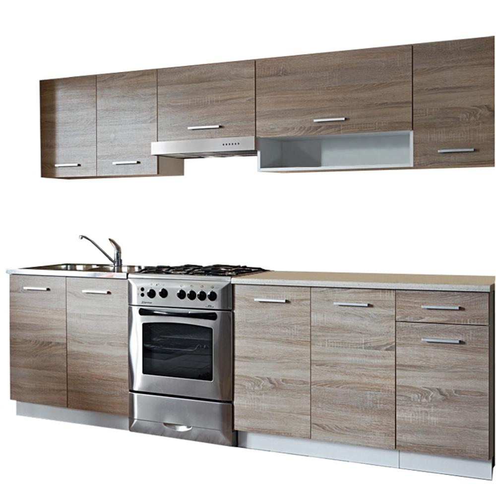 Základní kuchyňská sestava, dub sonoma/bílá, CYRA NEW
