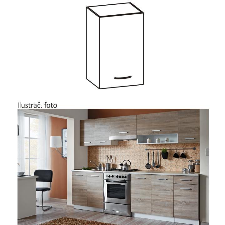 Felső szekrény, sonoma tölgyfa/fehér, CYRA NEW G 30