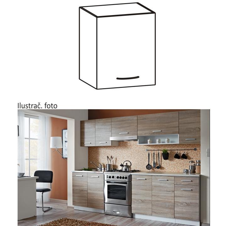 Felső szekrény, sonoma tölgyfa/fehér, CYRA NEW G 40