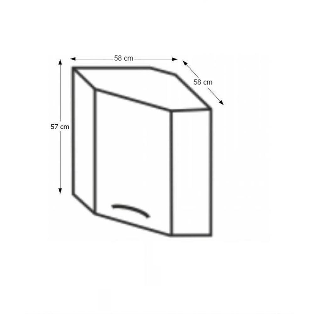 Horní rohová skříňka, dub sonoma / bílá, Cyra NEW GN-60