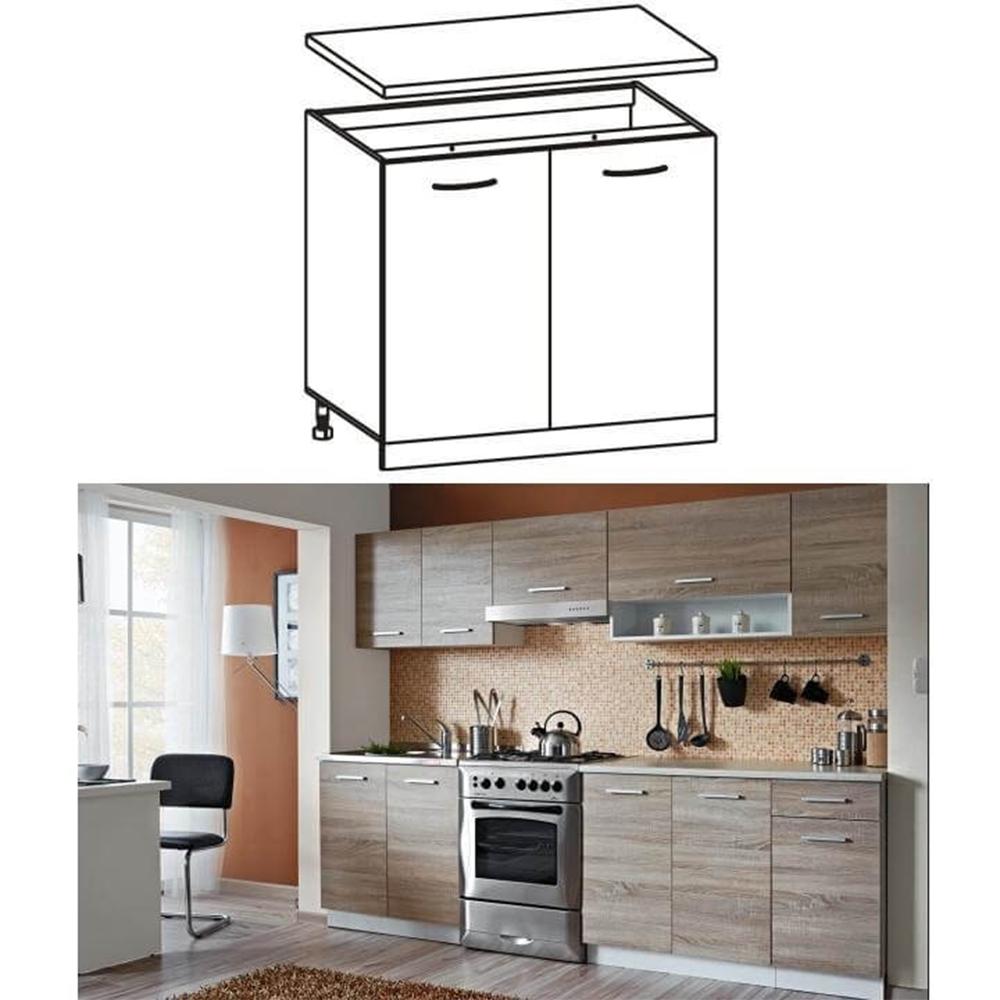 Skříňka do kuchyně, dolní, dub sonoma / bílá, CYRA NEW D 60