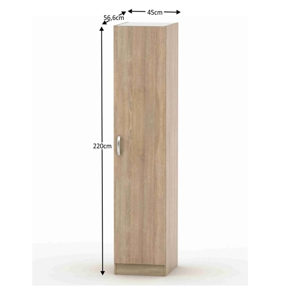 1-ajtós szekrény, sonoma tölgy, BETTY 2 BE02-006-00