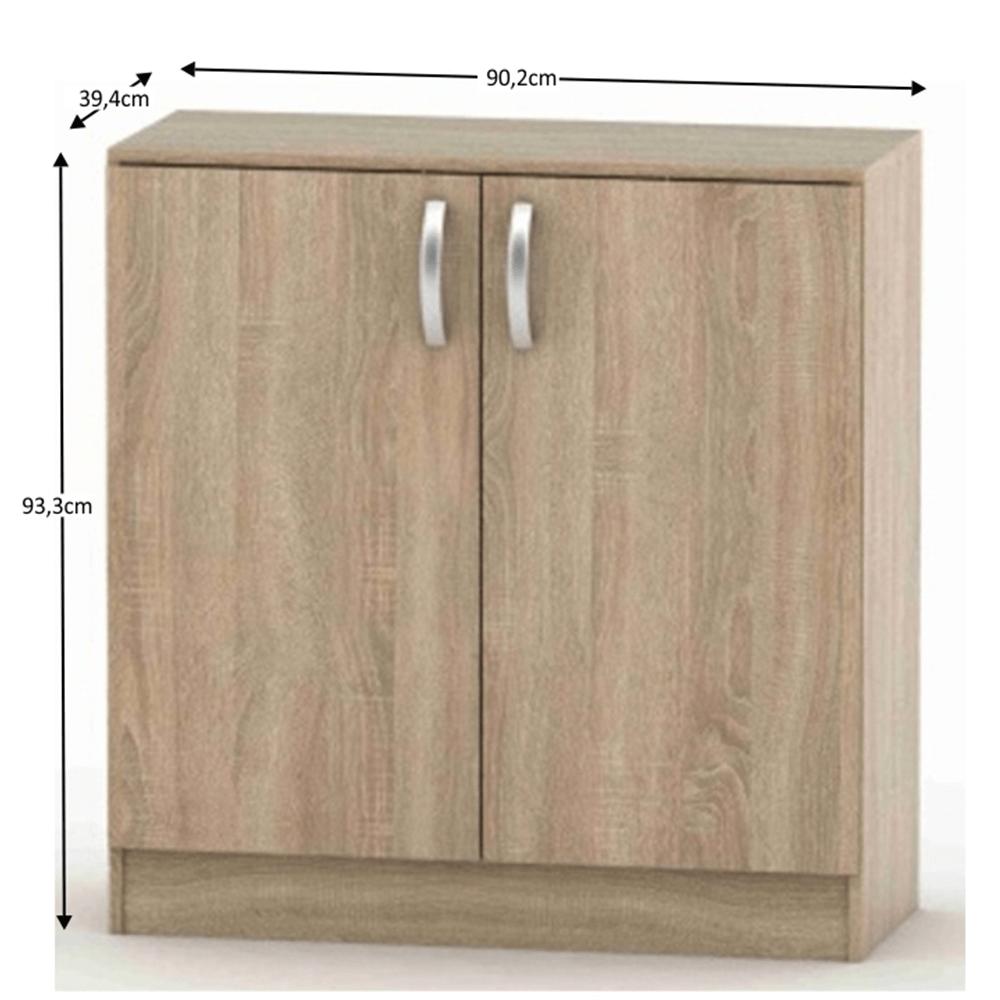 2-dveřová komoda, dub sonoma, BETTY 2