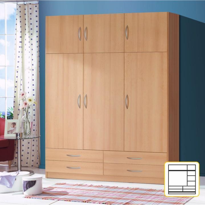 Kombinált szekrény,bükkfa, GERI