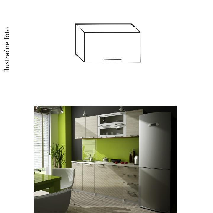 Horná kuchynská skrinka, dub sonoma/biela, IRYS NEW GO-60