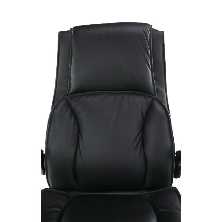 Kancelářská židle, kůže / ekokůže černá, Lumír