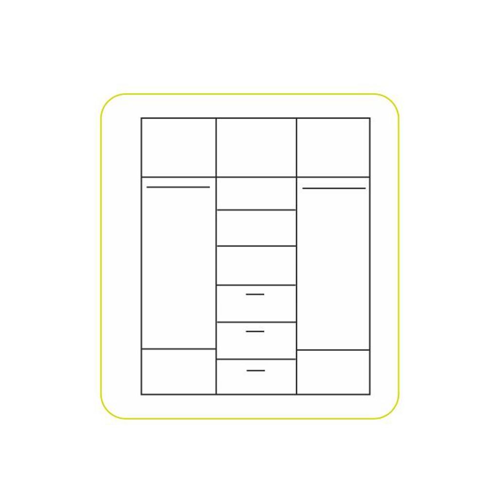 Skříň třídveřová, dub sonoma / bílá, EMIO TYP 01