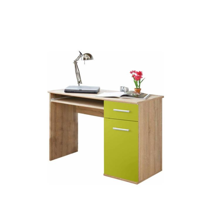 PC asztal, sonoma tölgyfa/zöld, EMIO 6 TÍPUS