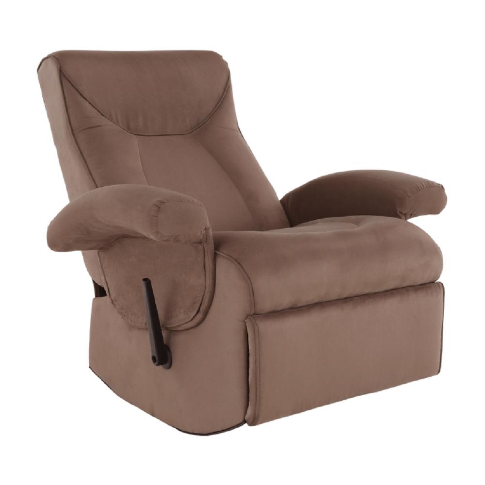Fotoliu relaxant, cu funcție electrică de vibrație, textil maro, SUAREZ