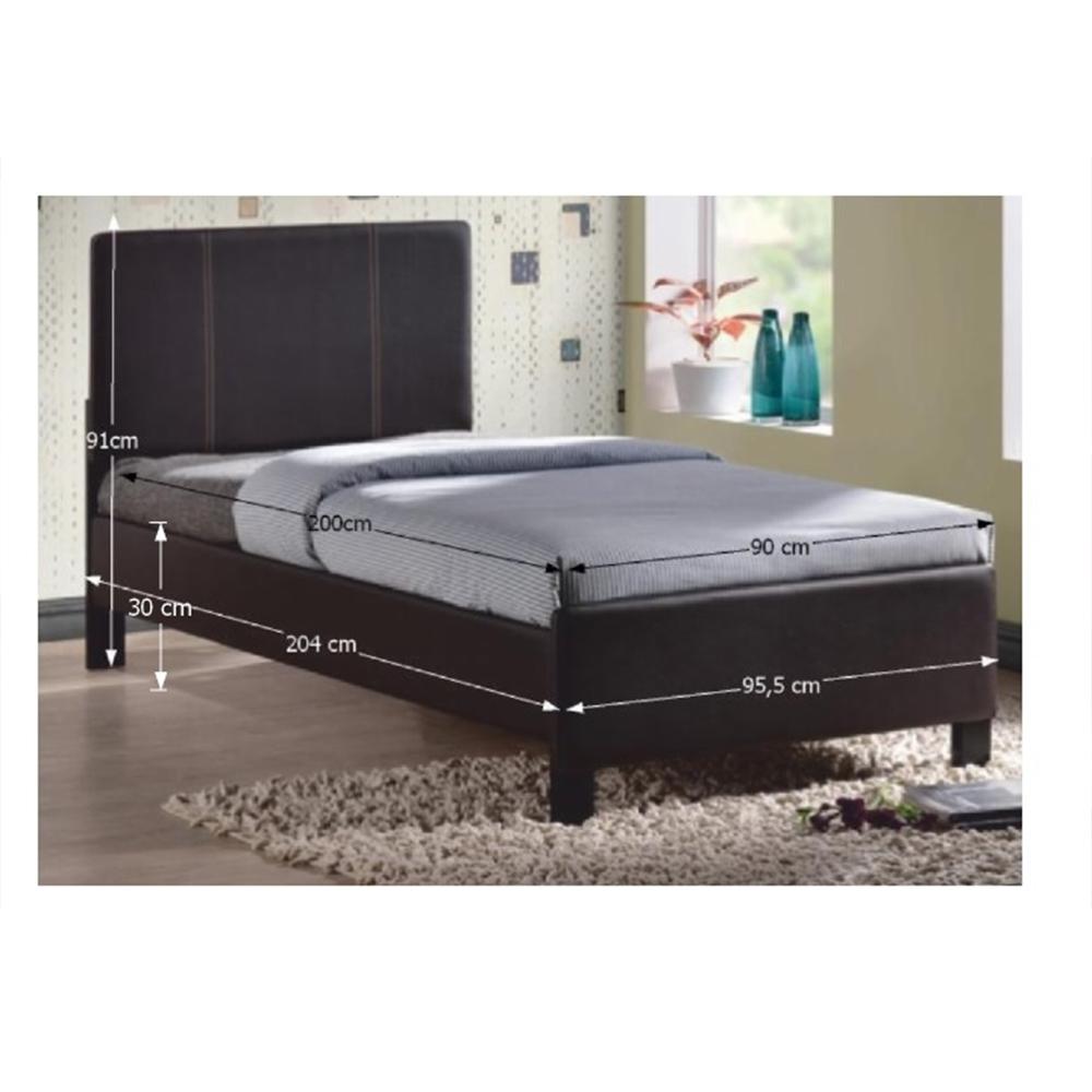 Ágy ágyráccsal, 90x200, barna, ARKONA