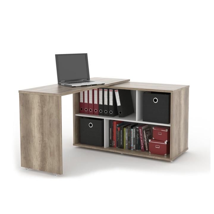 Rozkladací PC stôl, dub canyon, ASTON