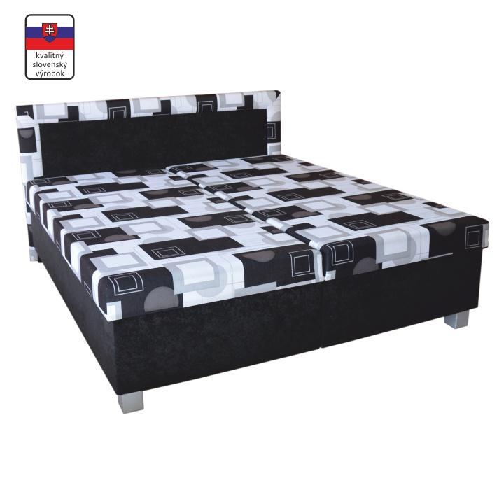 TEMPO KONDELA Manželská posteľ s úložným priestorom, s pružinovým matracom, 195x165 cm, MAJA