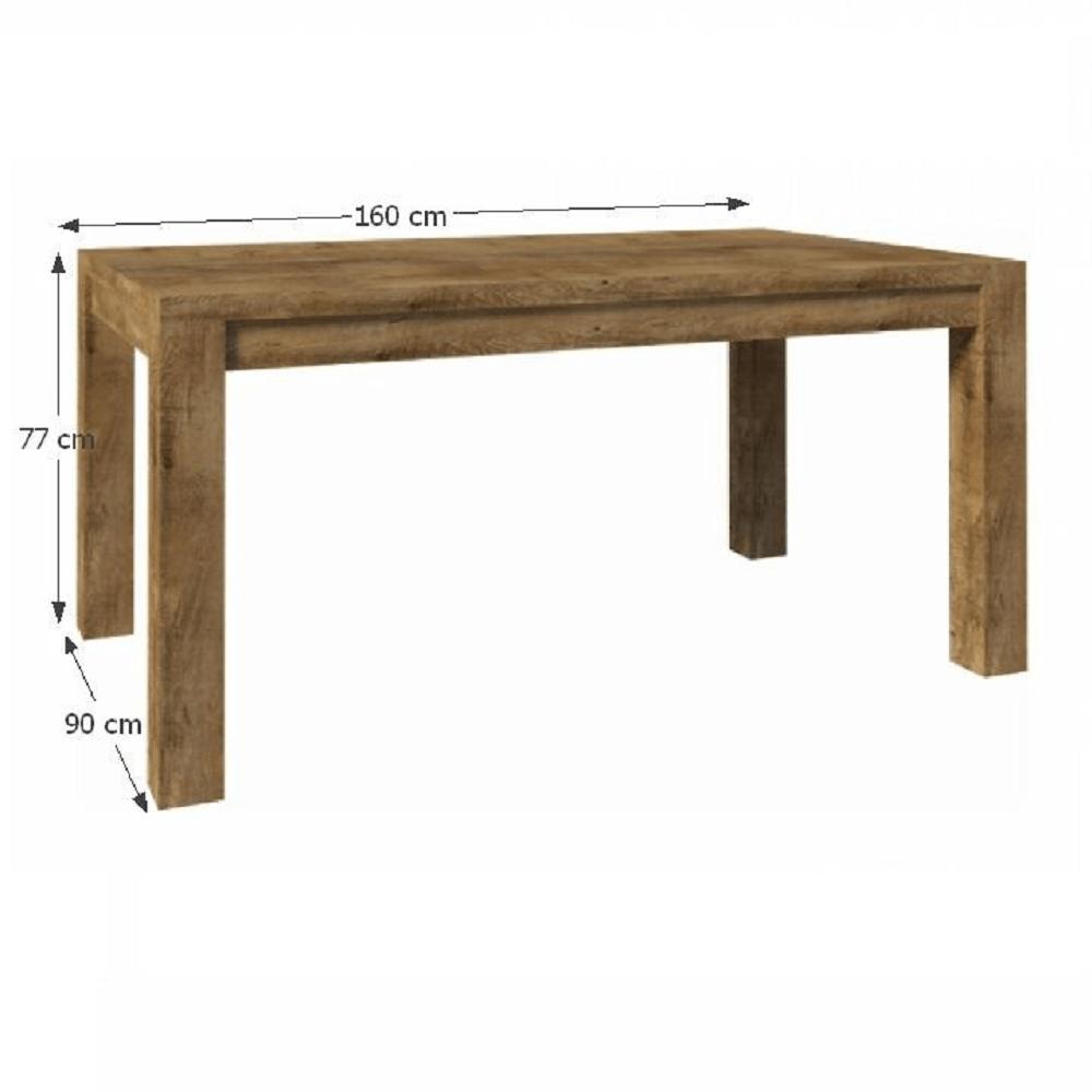 Étkezőasztal ST 160, lefkas tölgyfa, NEVADA